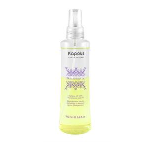 Двухфазное масло для волос Kapous с маслом ореха макадамии