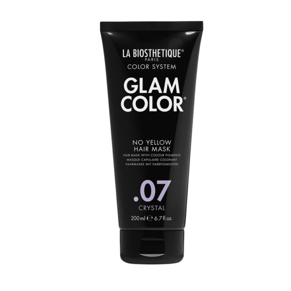 Тонирующая маска для волос La Biosthetique Glam Color No Yellow Hair Mask .07 Crystal