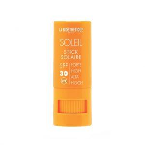 Водостойкий стик для интенсивной защиты чувствительной кожи губ, глаз, носа, ушей SPF 30 Stick Solaire Visage La Biosthetique