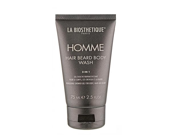 Очищающий, увлажняющий и освежающий гель для тела, волос и бороды Hair Beard Body Wash La Biosthetique